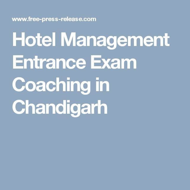 Hotel Management Entrance Exam Coaching in Chandigarh