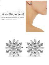 """Kenneth Jay Lane(ケネスジェイレーン) イヤリング・ピアス 世界のNYジュエリー""""KJL""""クリスタル Earring シルバー"""