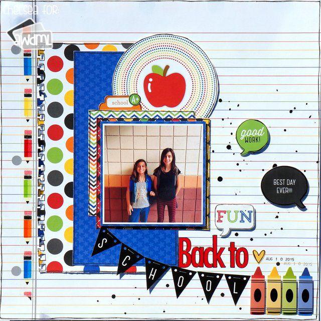 42 Best School Themed Scrapbook Layouts Images On Pinterest