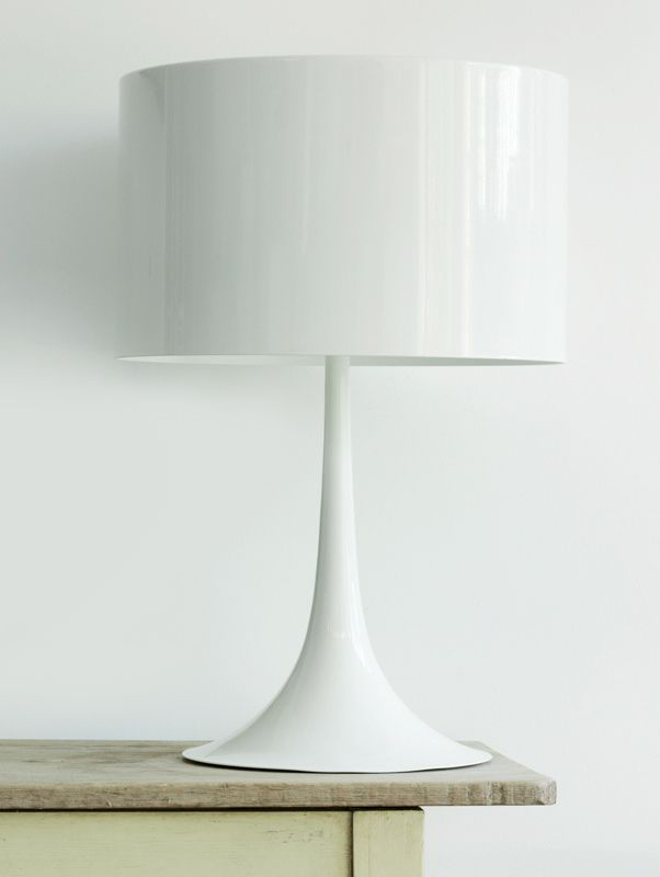 .Flos light - love the white against natural timber