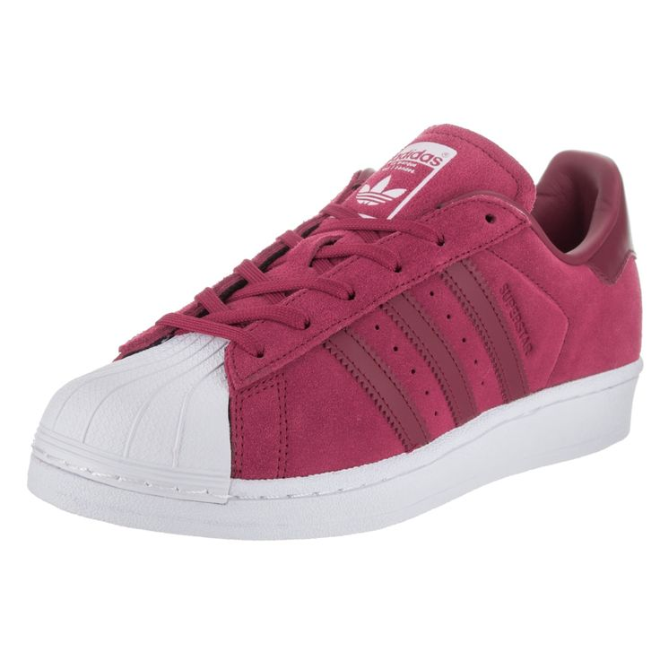 Look casual and fierce in these pink Adidas Originals Superstar shoes. Made  with suede uppers