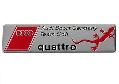 Audi #sport germany #quattro team badge emblem #metal boot a3 a4 a5 a6 a8 s3 s4 s,  View more on the LINK: 	http://www.zeppy.io/product/gb/2/281920540774/