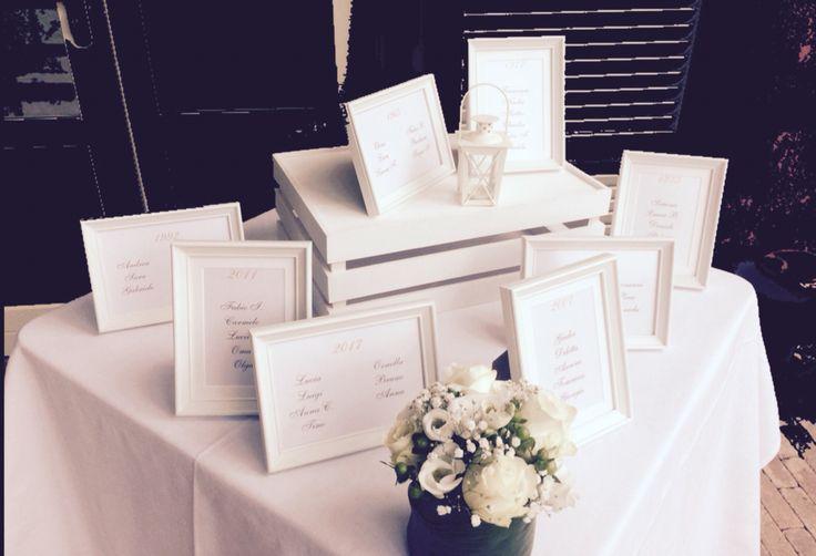 Tableaux de mariage con cornici #Matrimonio