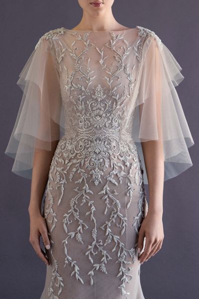 Paolo Sebastian Autumn Winter 2014 Bridal Collection love the sleeves coming back into style