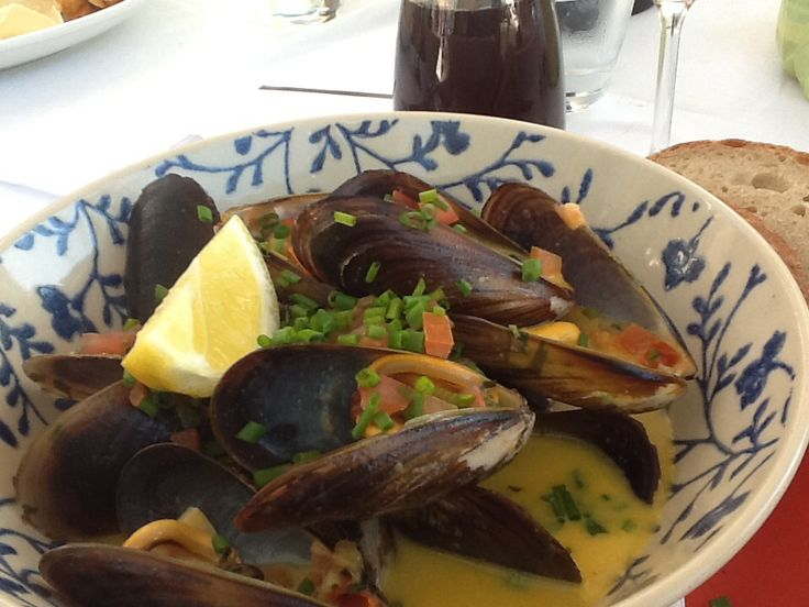 Mussel starter at Dutch East in Franschhoek ( South Africa)
