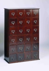 Library Card File Multimedia Cabinet Cherry by Leslie Dame Enterprises  http://www.60inchledtv.info/tvs-audio-video/television-accessories/cd-racks/library-card-file-multimedia-cabinet-cherry-com/