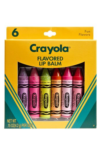 Lotta Luv 'Crayola' Lip Balm #Nordstrom hehe i would look like im coloring my lips.... or eating crayons hmmmmm?