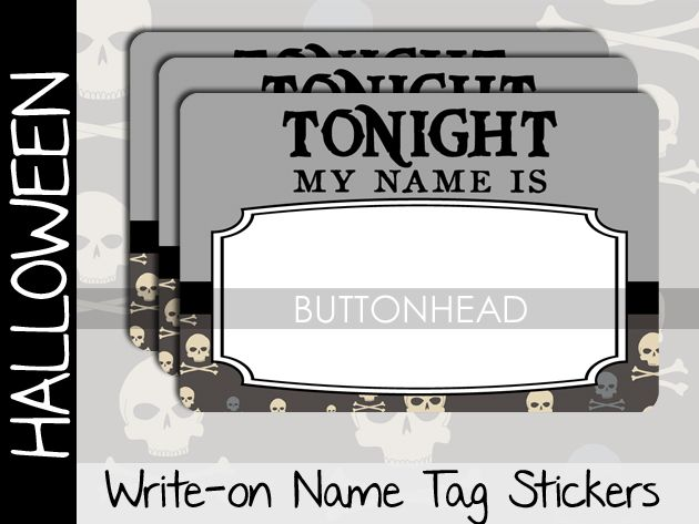 new this year for your halloweenparty kitchy name tags https - Names For A Halloween Party