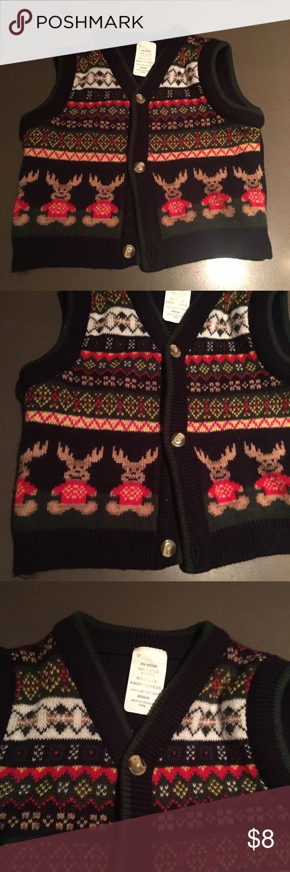 Vintage Baby Ugly Christmas Sweater Vest 6 9 month In overall good vintage condition. Check out our closet for great bundle offers! Price firm unless bundled! Vintage Jackets & Coats Vests
