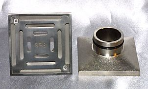 """Drainage Products by Metabronze » 100mm Square """"Push In"""" Drain"""