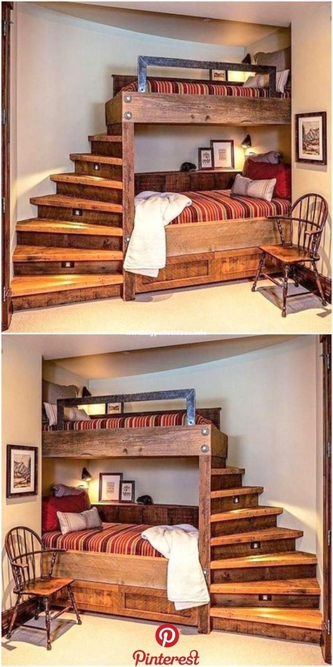 100 Space Saving Small Bedroom Ideas - Housely in 2020 ... on Pallet Bed Room Ideas  id=98420