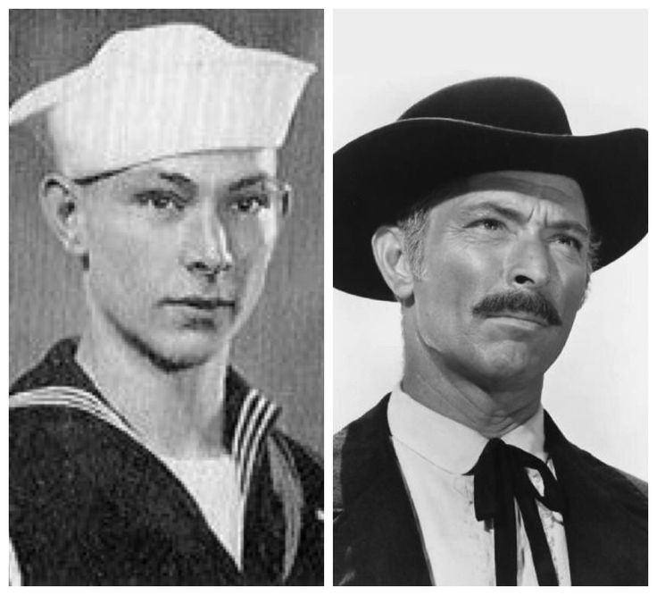 Lee Van Cleef-Navy-WW2-served on a submarine chaser in Caribbean Sea, then in the Black China Sea on mine sweeper. (Actor)