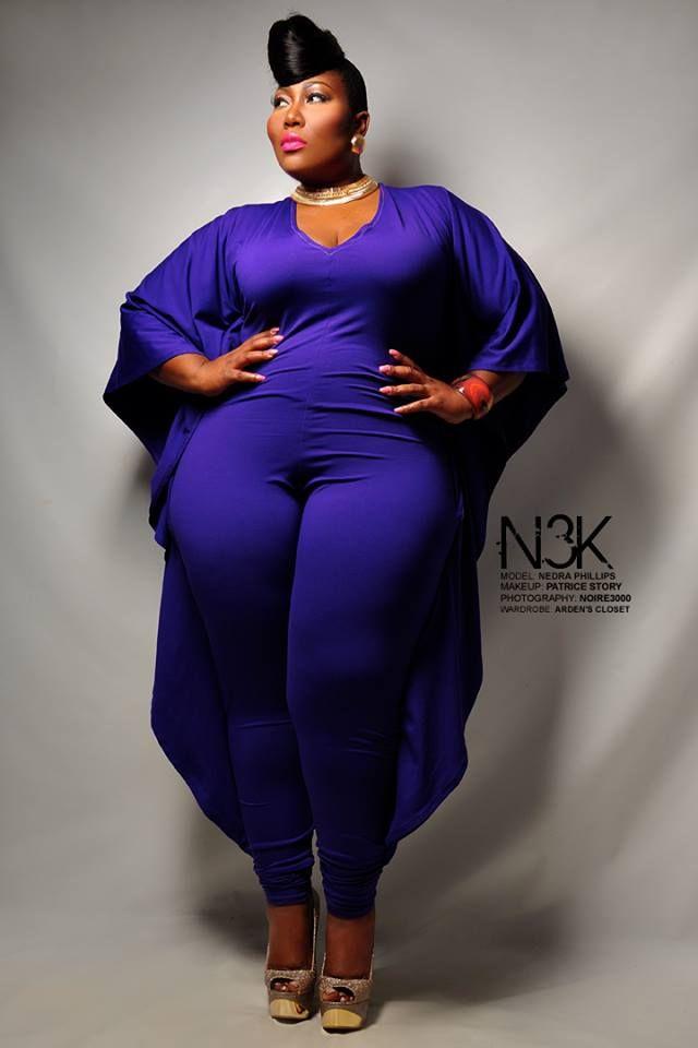 Nedra Phillips In Vy Purple Batwing Jumpsuit Voluptuous