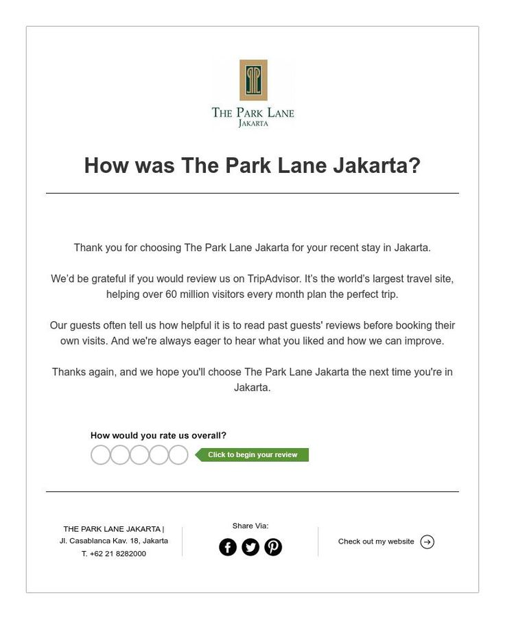 How was The Park Lane Jakarta?