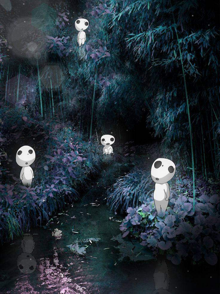The Kodama from Princess Mononoke. I've always wanted a terrarium with these guys in there.