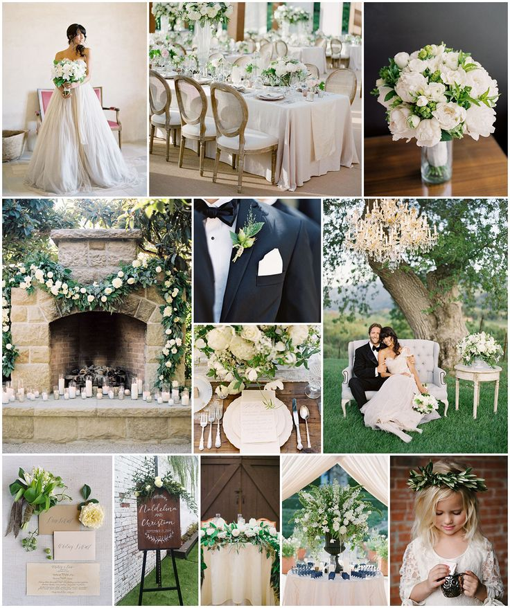 Wedding Ideas And Inspirations: Greenery & White Wedding Theme Inspirations #wedding