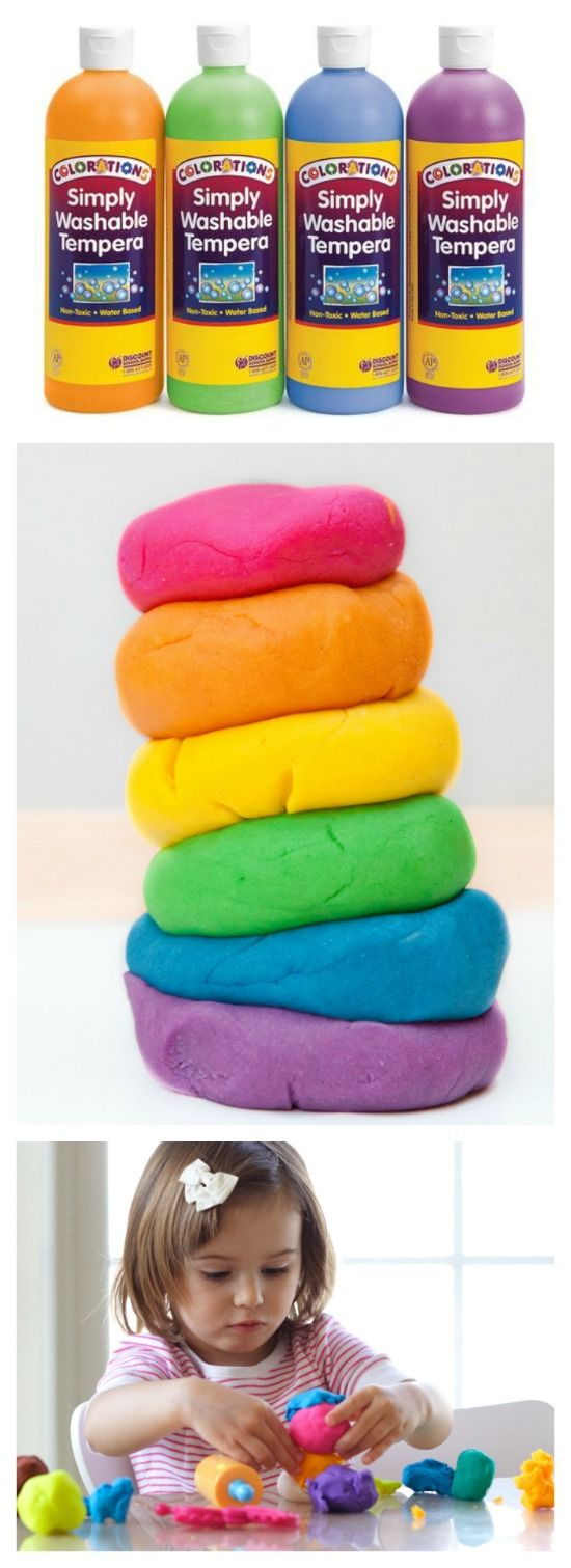 WONDER DOUGH: an amazing, moldable dough made from paint that transforms in magical ways as kids play! {Only two common household ingredients and NO COOKING!}