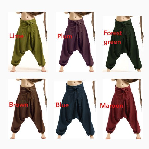 ASSORTED COLOURS - unisex FISHERMEN pants, yoga trousers, harem pants men, harem pants, aladdin pants, CVTRFa
