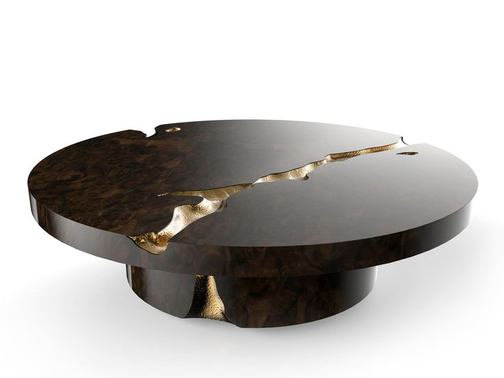 Coffee Table Excellence With Mahogany Wood, Polished Brass Details. An  Exquisite Piece Will Add A Breathtaking Touch Of Elegance And Glamour To  Your Luxury ...