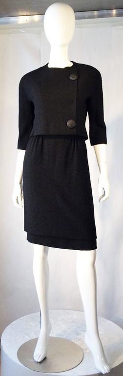 Balenciaga Haute Couture Dress Suit Documented 1957