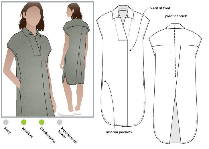 StyleArc  Autumn Dress sewing pattern