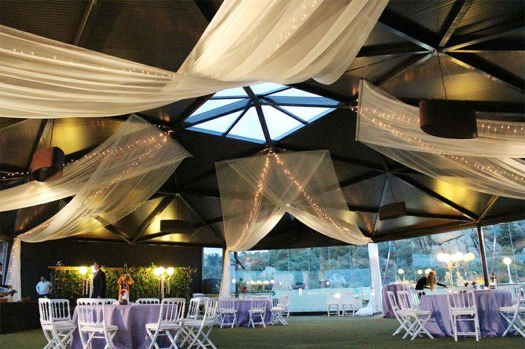 Decoraci n con telas y luces para la boda de myp by - Decoracion con luces ...