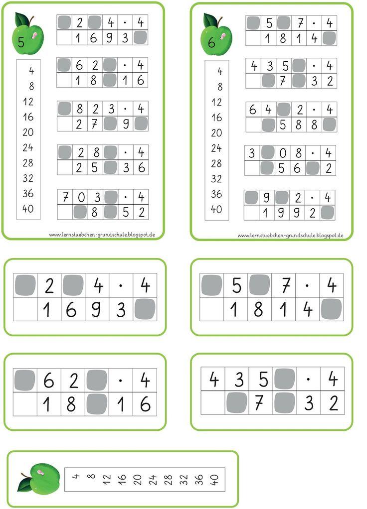 klecksaufgaben zum multiplizieren matheunterricht matheunterricht multiplikation und mathe. Black Bedroom Furniture Sets. Home Design Ideas
