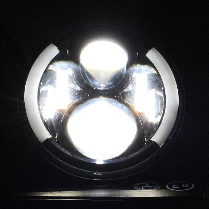 80w 7 Quot Led Headlights With Semi Halo Best Seller
