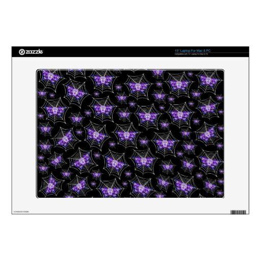 Purple Skull Webs Laptop Skin