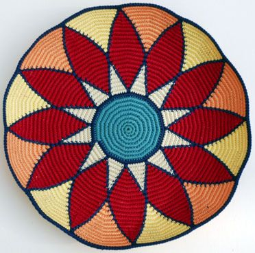 Color, Graphics, Craft... I can't decide where to pin this awesome crochet bowl by Carol Ventura via ThingsBright.com