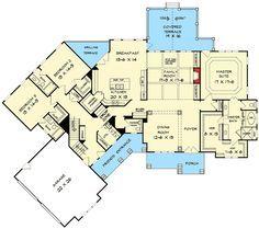 Angled Craftsman House Plan - 36029DK   Craftsman, Mountain, Northwest, 1st Floor Master Suite, Bonus Room, Butler Walk-in Pantry, CAD Available, PDF, Split Bedrooms, Corner Lot   Architectural Designs