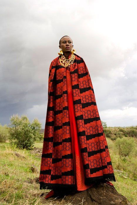 Designed by Kwame Mensah, Ghana. Model Emliy Njeri (Kenya) #FAFA