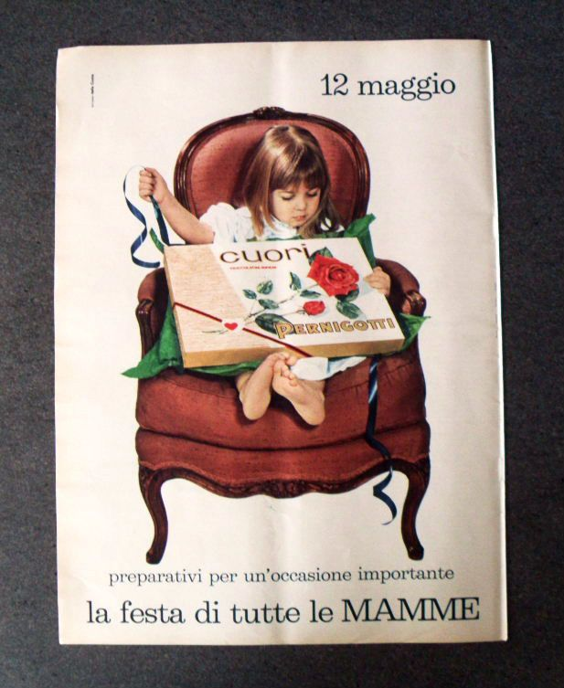 GCG  P382 - Advertising Pubblicità -1968- CUORI PERNIGOTTI , FESTA DELLA MAMMA