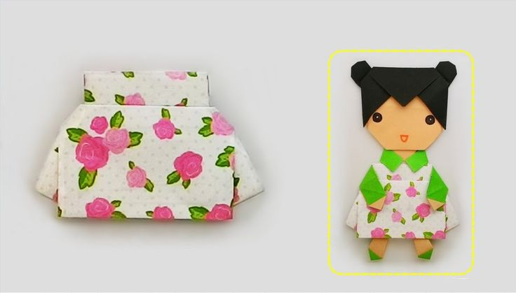 Origami Dress up little girl 2 ...แต่งตัวหนูน้อย 2 /ชุดกระโปรง