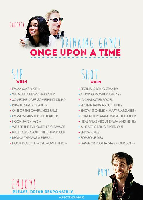 Reply To: Once Upon a Time Drinking Game
