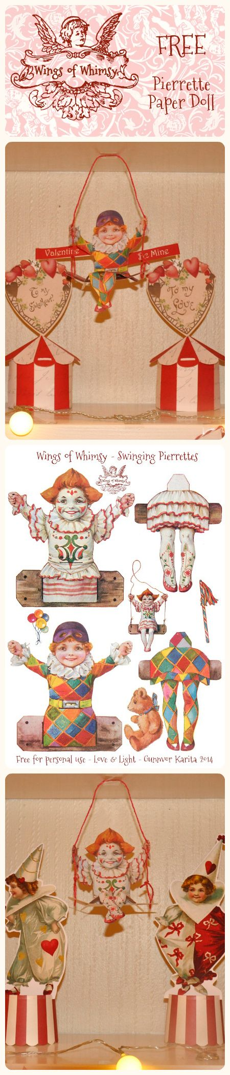 Wings of Whimsy: Vintage Love Circus Swinging Pierrettes