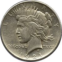 I am searching for my 1921 peace dollar, I go metal detecting in hopes of finding one.