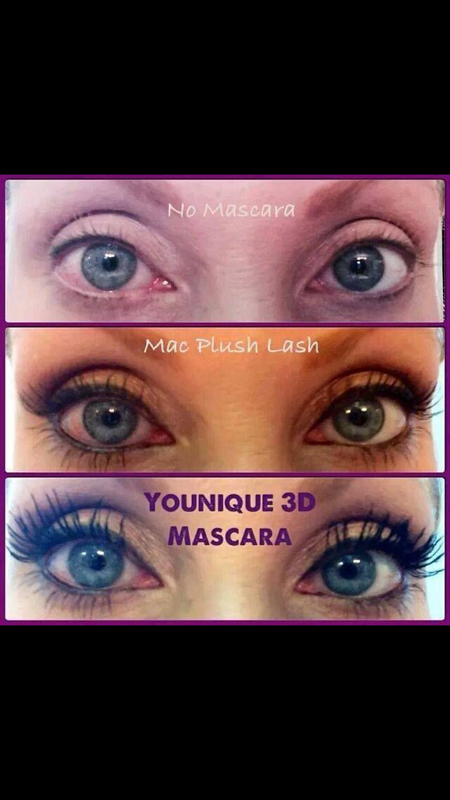 Get 300% more volume and length to your natural lashes with 3D Fiber Mascara's three step application! $29.00 www.glamorousglowmakeup.com