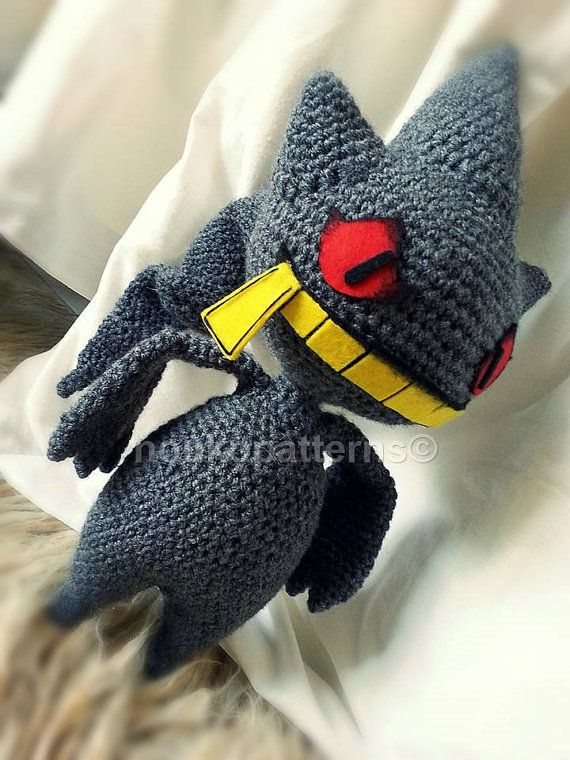 Banette Pokemon Crochet Amigurumi INSTRUCTIONS by NoukoPatterns