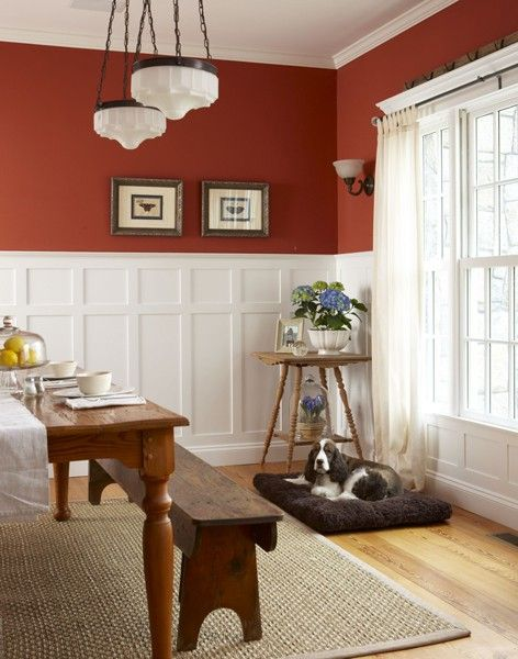 Love this wainscoating pinterest for Living room wainscoting ideas