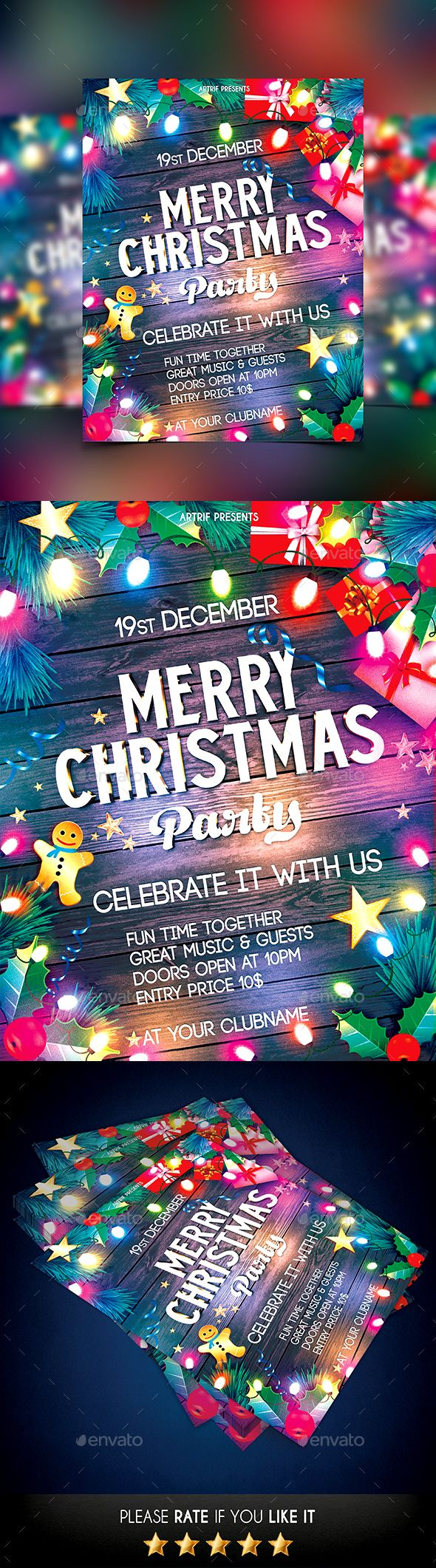 Christmas Flyer Template PSD #design Download: http://graphicriver.net/item/christmas-flyer/13814042?ref=ksioks