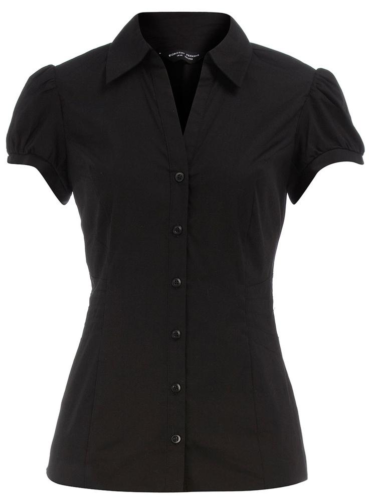Black Pleat Side Shirt