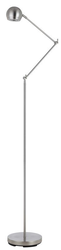 Cal Lighting BO-2437FL LED 5W 3000K Desk Lamp With Balance Arm Chrome Lamps Floor Lamps Swing Arm Lamps