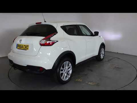 NISSAN JUKE 1.2 DIG T ACENTA PREMIUM - Air Conditioning - Alloy Wheels - Bluetooth - Panoramic Roof - SD Card - Satellite Navigation   In white with ...