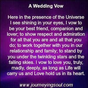 A wedding Vow