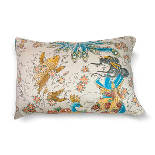 Geisha Garden Tattoo Pillowcase Sets and Shams | Pillowcases by Sin in Linen