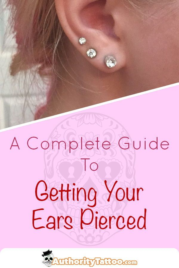 Getting Your Ears Pierced For The First Time Can Be A Daunting
