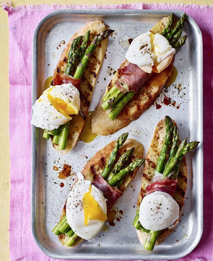 Asda Good Living | Poached egg on toast with asparagus parcels