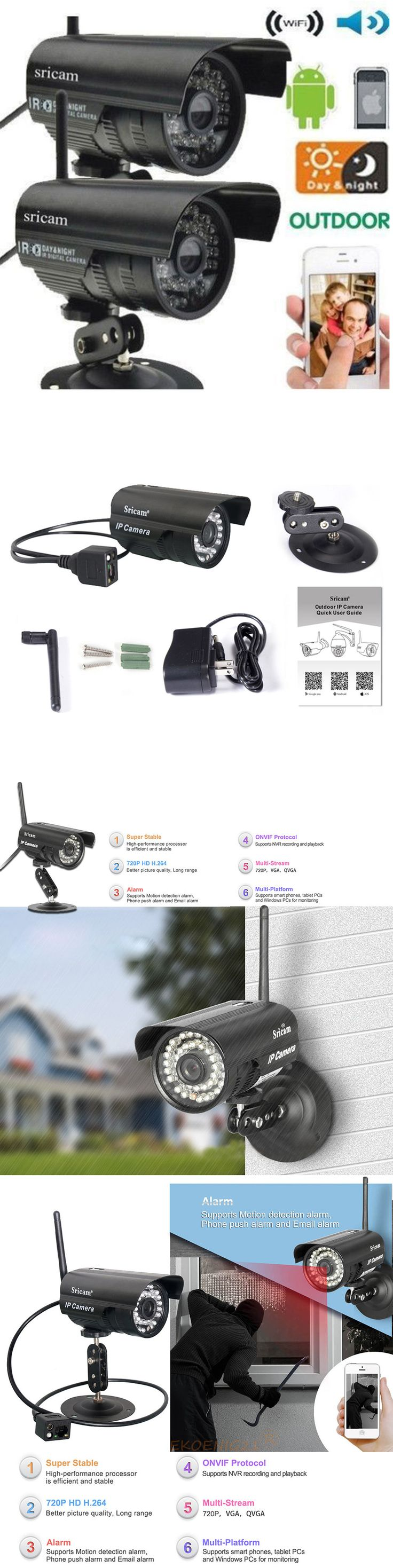 Security Cameras: 2X Sricam Outdoor Wireless Waterproof Ir Ip Camera Network Spy Cam Night Vision BUY IT NOW ONLY: $62.59