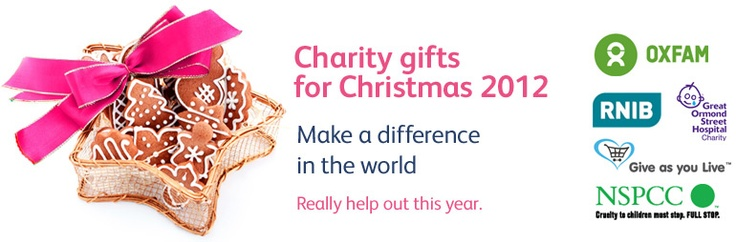 Charity gifts for Christmas 2012